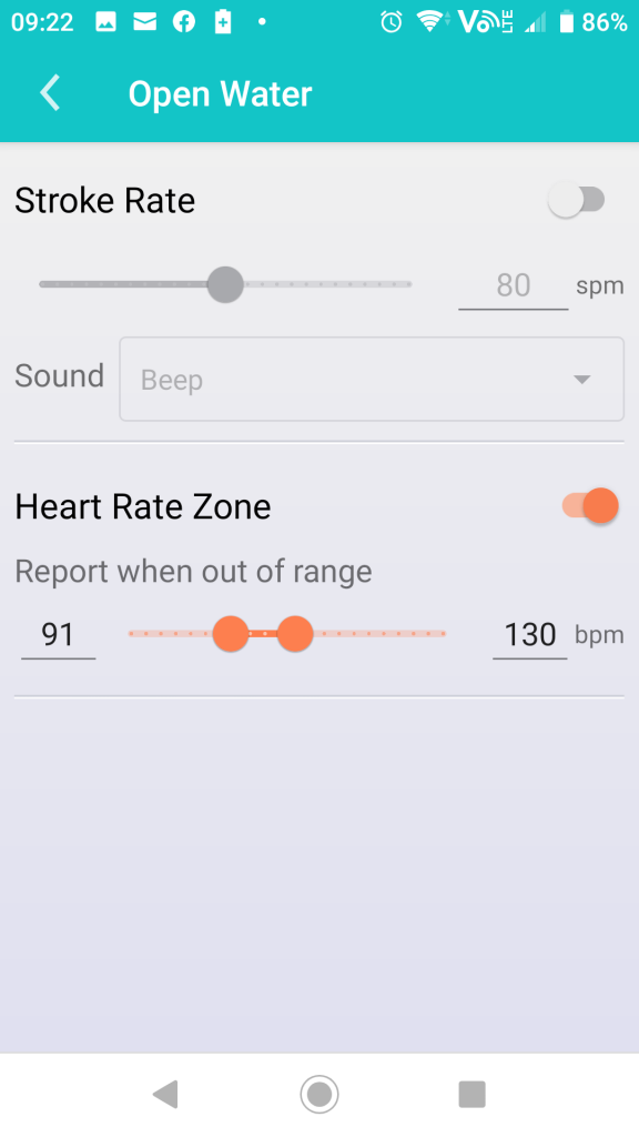 Define Heart Zone in Marlin App