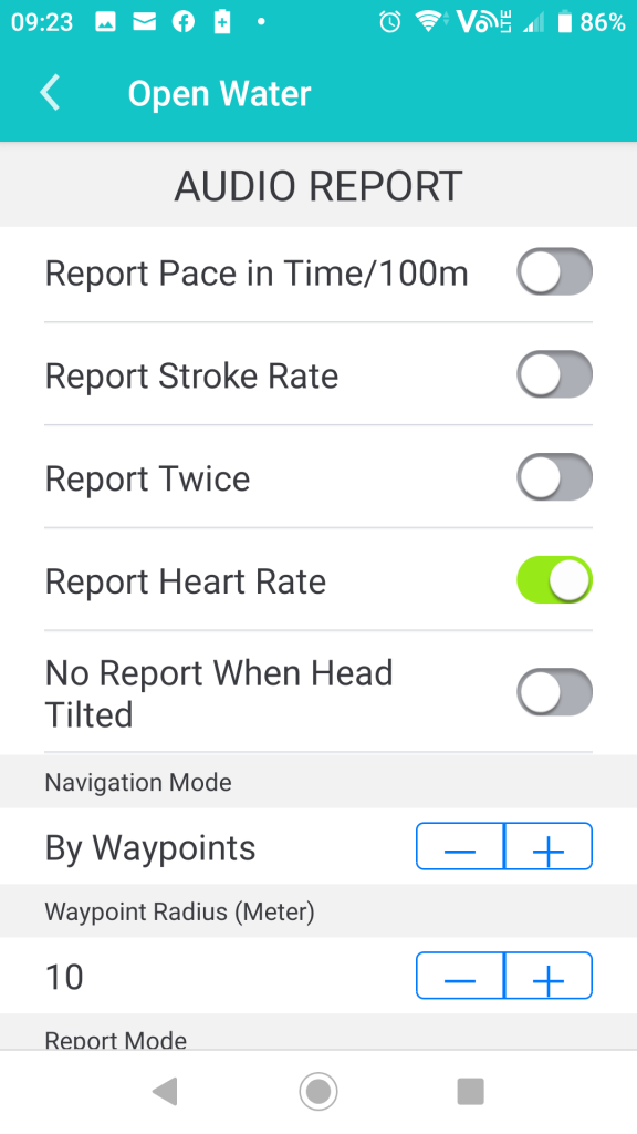 Report average heart rate
