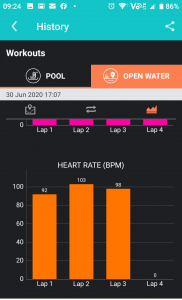 Average Heart Rate in Marlin App